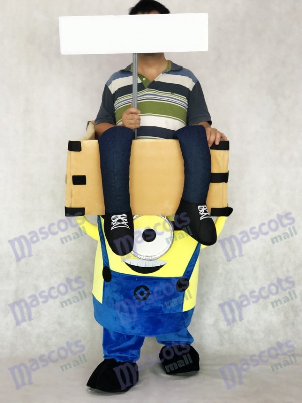 Despicable Me Piggyback Minions Carry Me Ride on One Eye Minions Mascot Costume