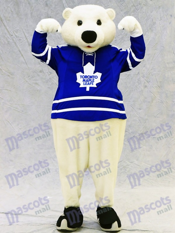 Carlton the Bear of Toronto Maple Leafs Polar Bear Mascot Costume Animal