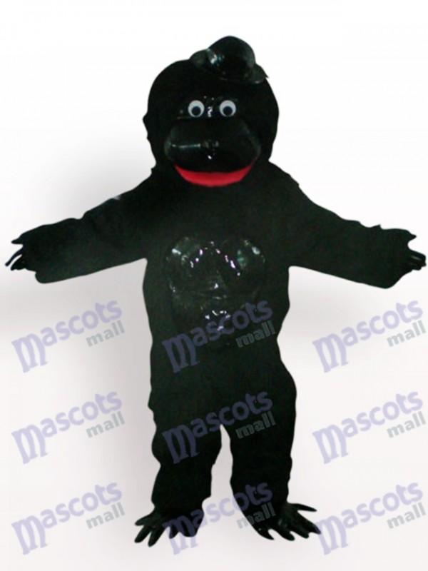 Orangutan With Black Hat Animal Mascot Costume
