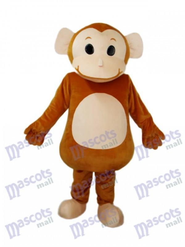 Big Head Monkey Mascot Adult Costume