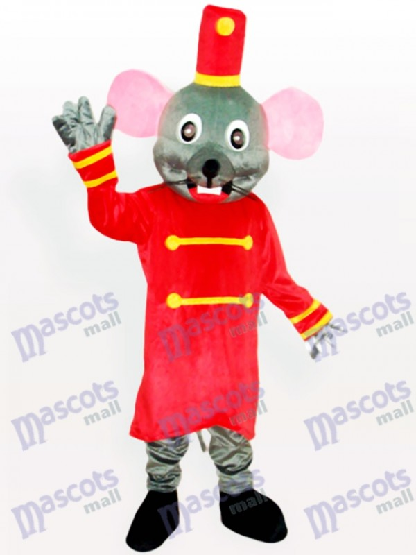 Grey Mouse the Doorkeeper Animal Mascot Costume