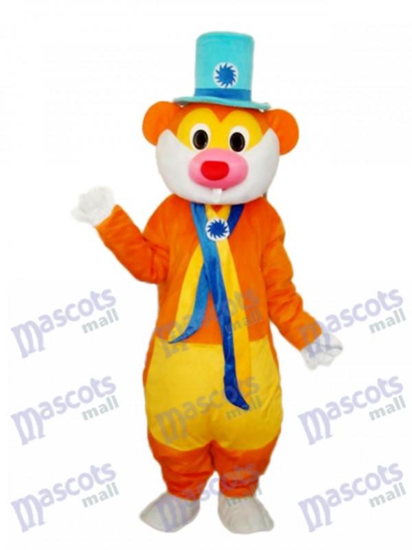 Flower Hat Rat Mascot Adult Costume