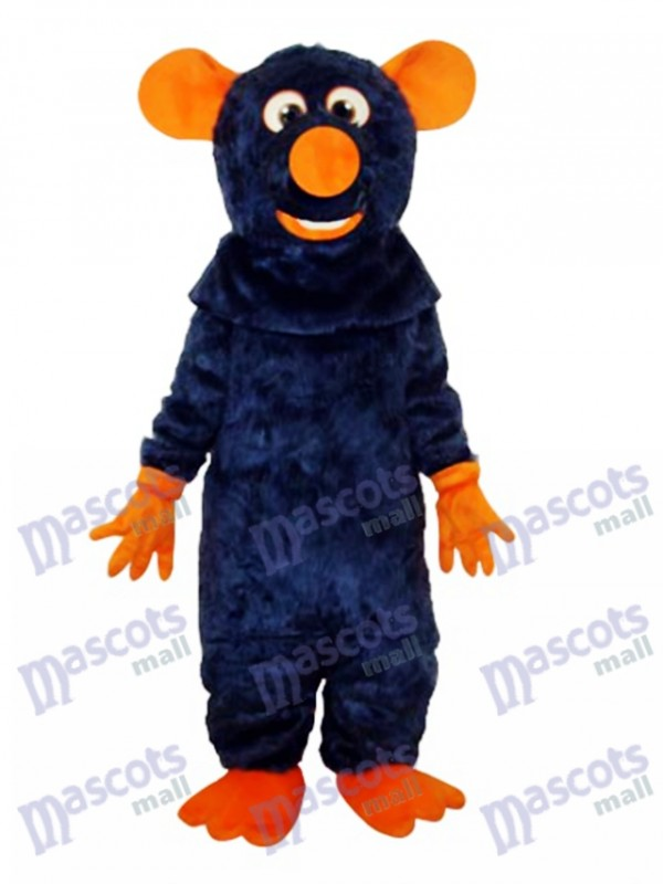 Big Tooth Black Mouse Adult Mascot Costume