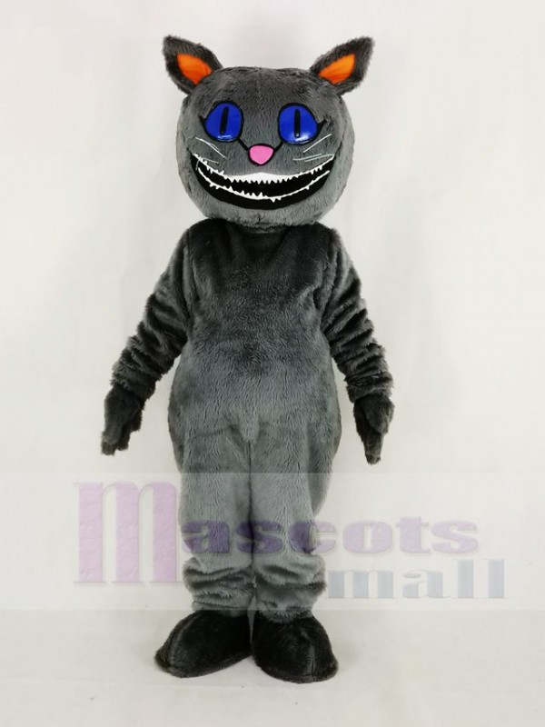 Realistic Cheshire Cat from Alice's Adventure in Wonderland Mascot Costume Cartoon
