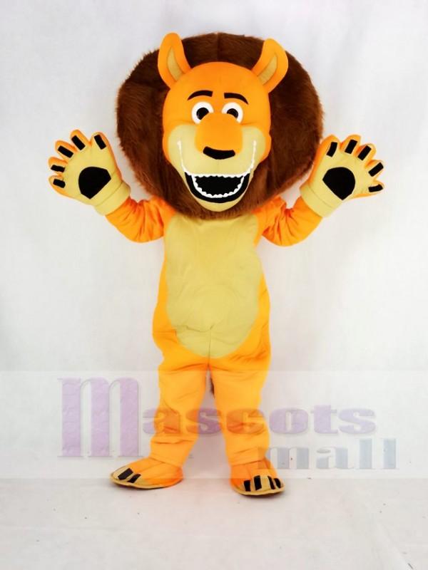 Funny Orange Lion Adult Mascot Costume School