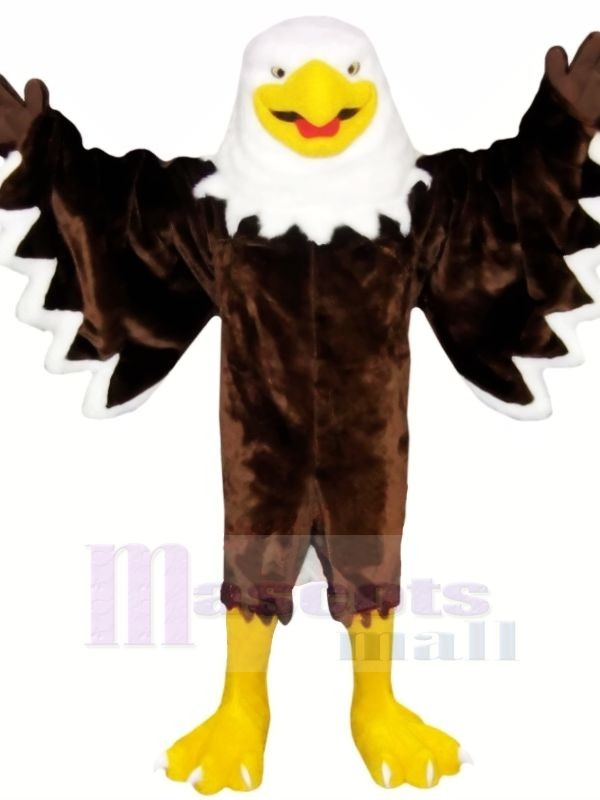 Smiling Brown Eagle Mascot Costumes Animal