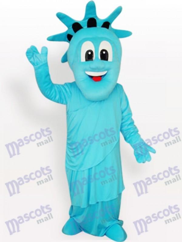 Blue Statue of Liberty Adult Mascot Costume