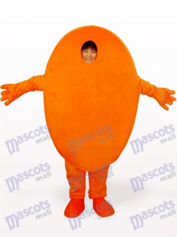 Yellow Mr Scratch Open Face Cartoon Adult Mascot Costume