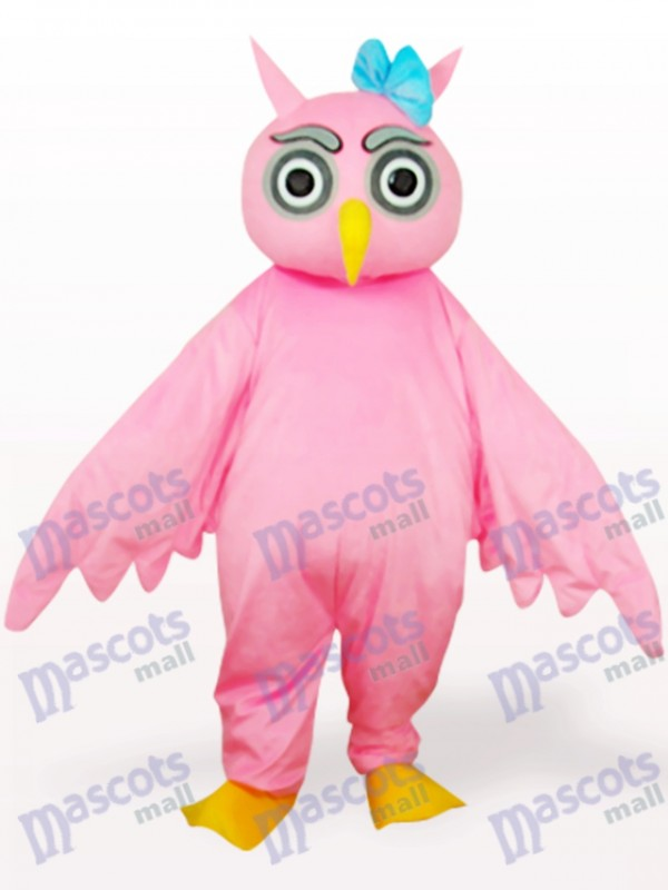Pink Owl Animal Adult Mascot Costume