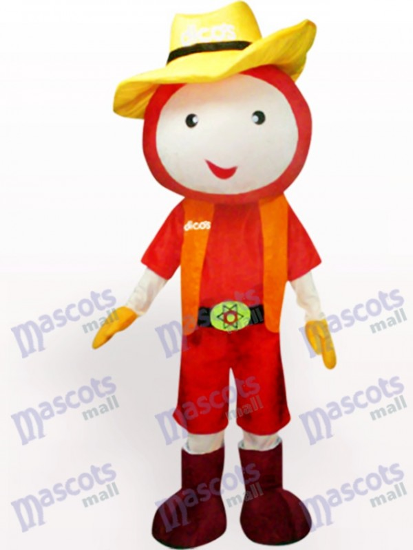 Straw Hat Doll Plush Adult Mascot Costume