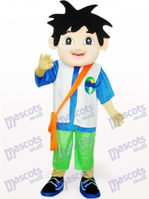 Blue And White Deigo Delgo Adult Mascot Costume