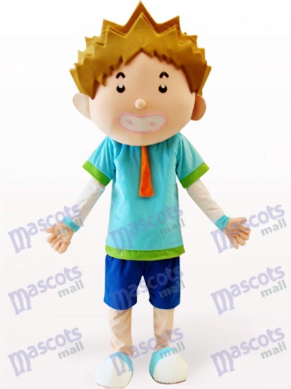 Smart Boy Cartoon Adult Mascot Costume