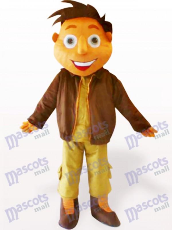 Jacket Boy Cartoon Adult Mascot Costume