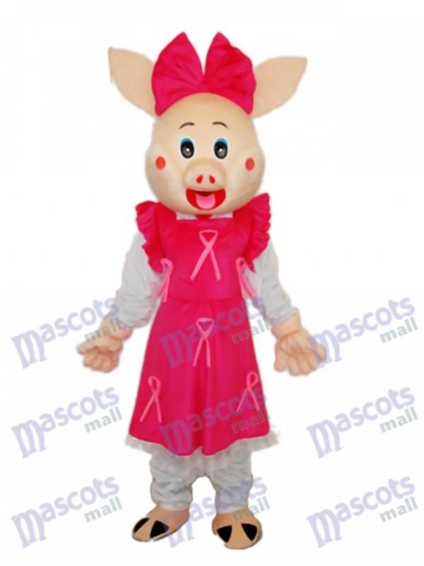 Cute Plump Pig Mascot Adult Costume
