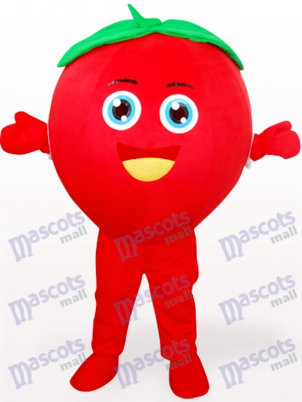 Smiling Tomato Fruit Adult Mascot Costume
