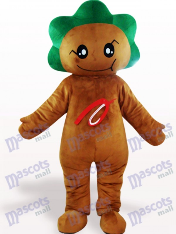 Deep Brown Leaf Flower Plant Adult Mascot Costume