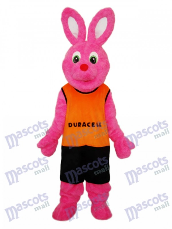 Easter Deer Rabbit with Orange Vest Mascot Adult Costume