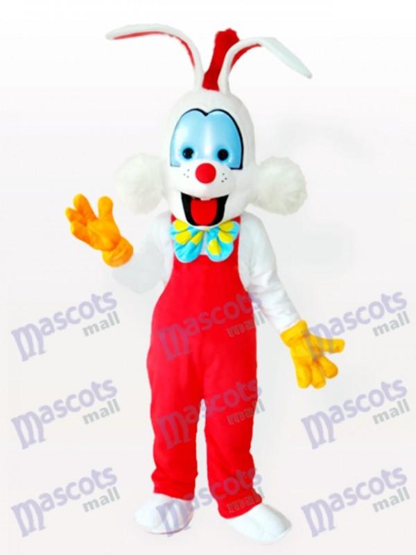 Droll Clown Bunny Adult Mascot Costume