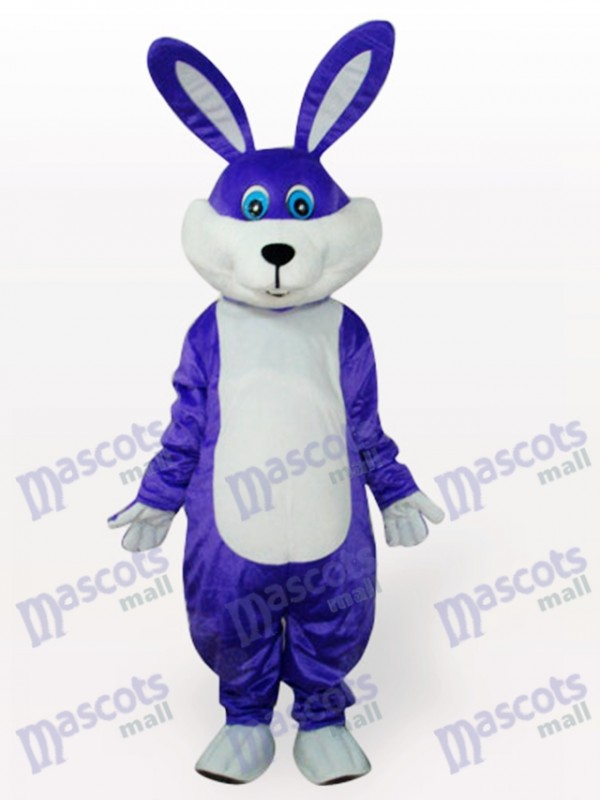 Purple Easter Bunny Rabbit Animal Adult Mascot Costume