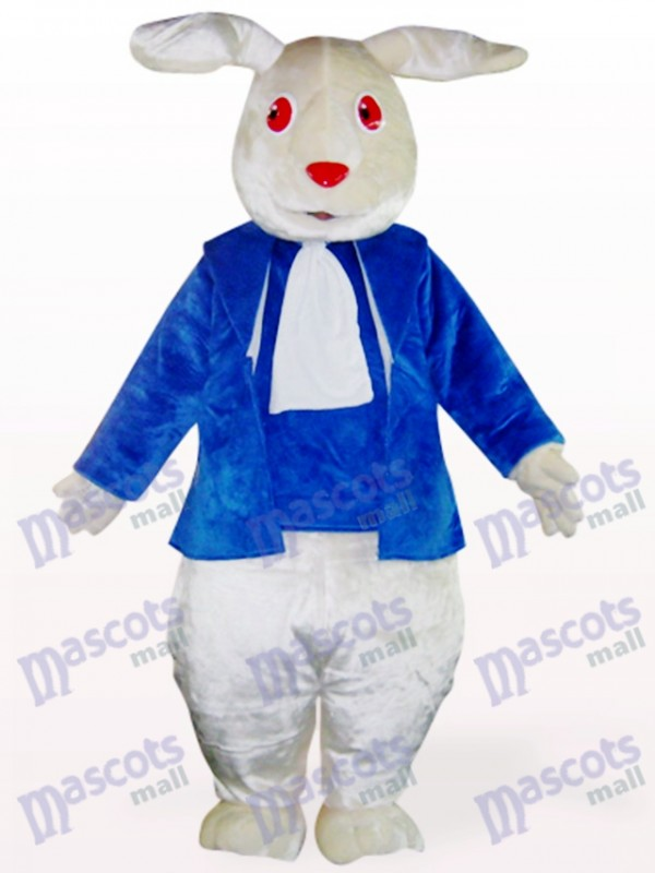 Easter Red Eyes Blue Clothes Rabbit Mascot Costume