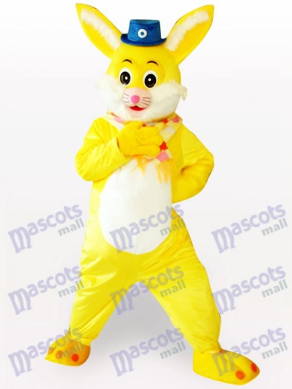Easter Yellow Rabbit Animal Adult Mascot Costume