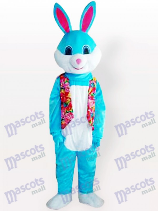 Blue Easter Bunny Rabbit Animal Adult Mascot Costume