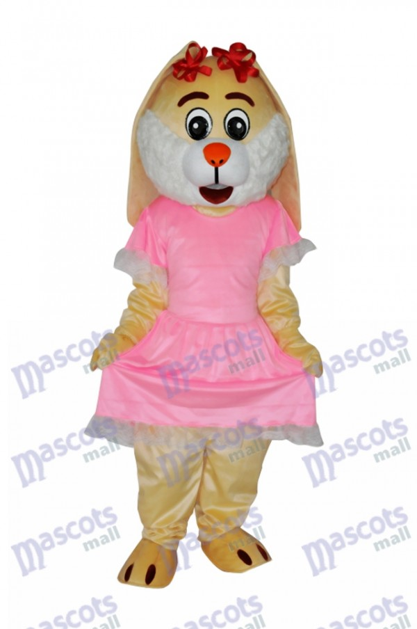 Easter Drooping Ear Rabbit Mascot Adult Costume