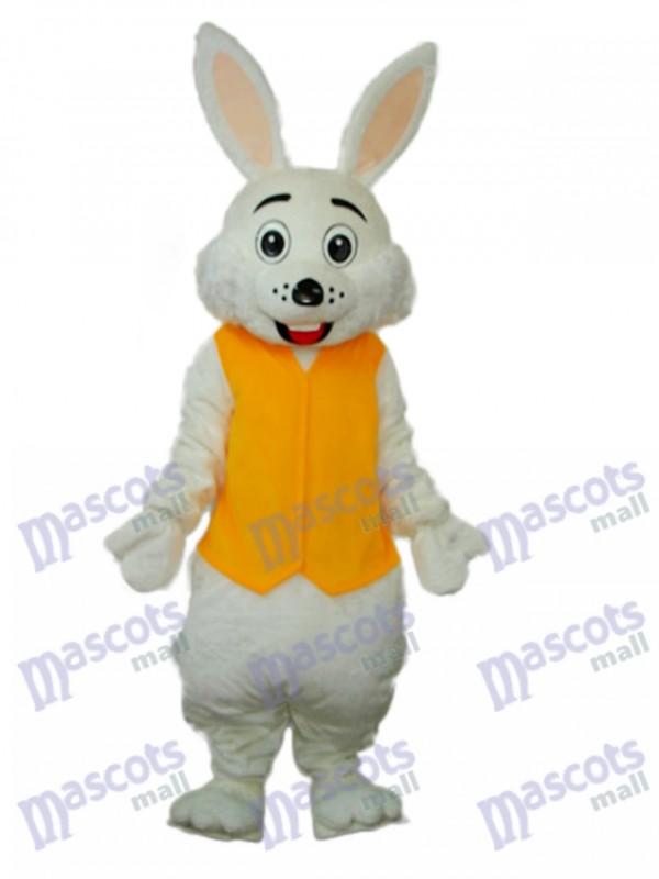 Easter Yellow Vest Rabbit Mascot Adult Costume