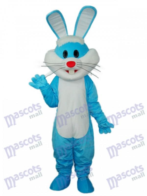 Easter Blue Rabbit Mascot Adult Costume