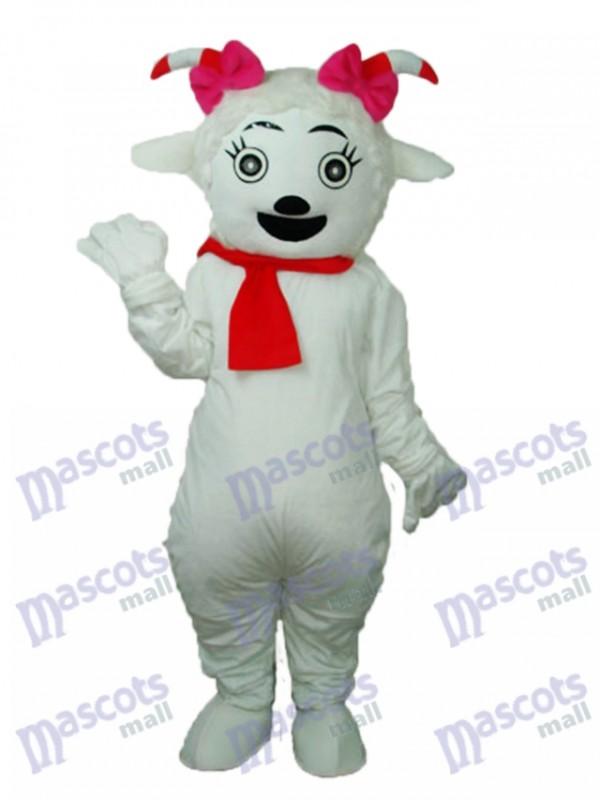 Beauty Sheep Mascot Adult Costume