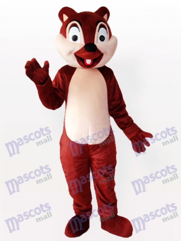 Tiny Brown Squirrel with One Incisor Adult Mascot Costume