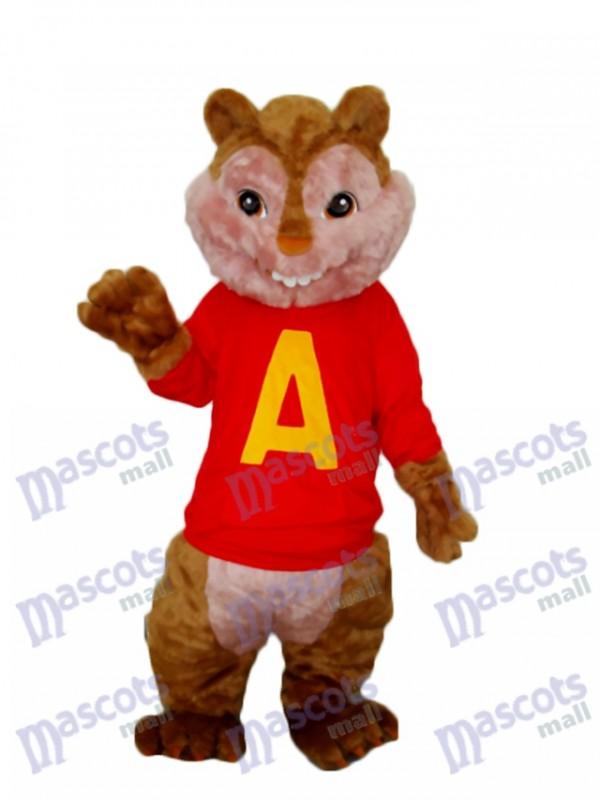 Alvin Chipmunk Mascot Adult Costume