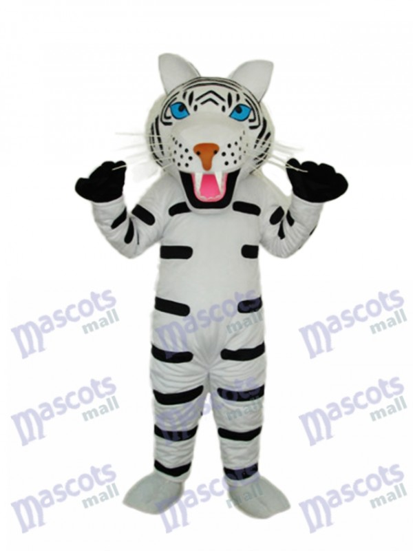 Black and White Tiger Mascot Adult Costume