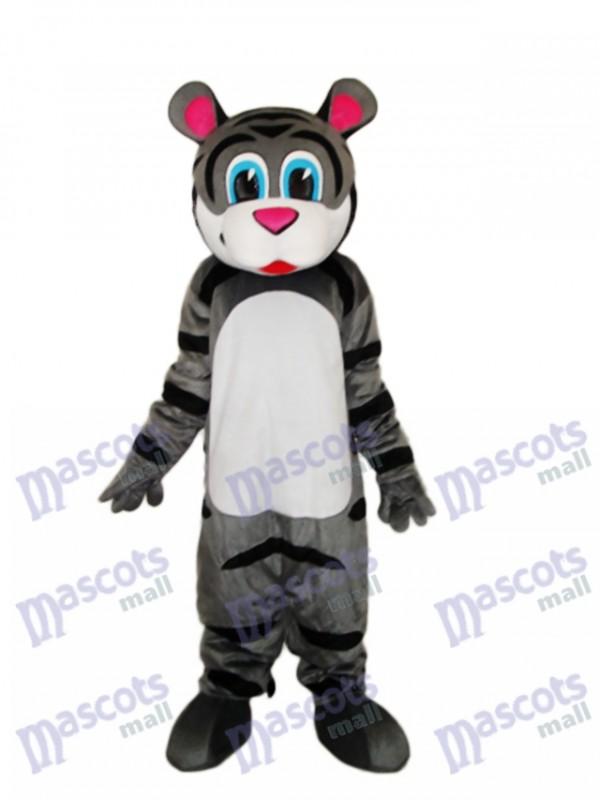 Small Gray Tiger Mascot Adult Costume