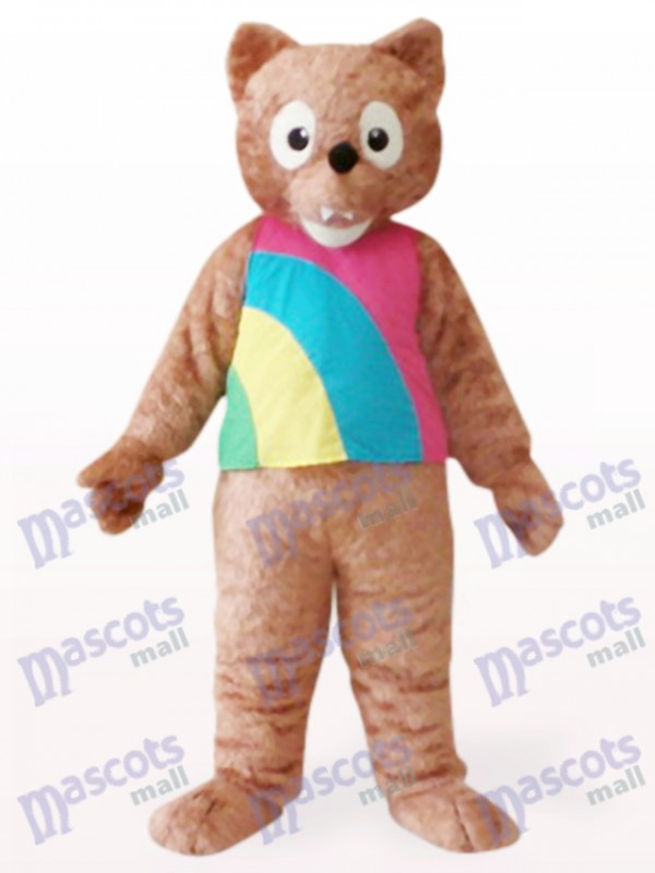 Brown Wolf Animal Mascot Costume