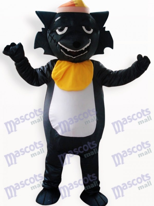 Black Wolf Animal Adult Mascot Costume