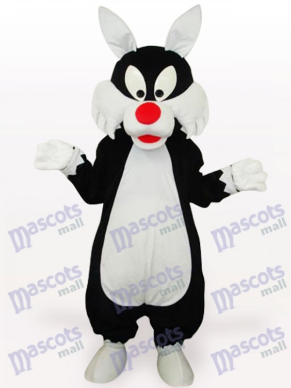 White Mouth Wolf Animal Adult Mascot Costume