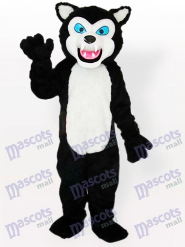 Black Wolf Adult Mascot Costume