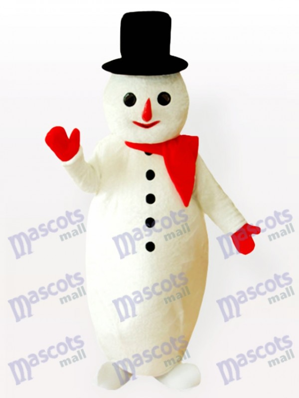 Potbelly Snow Man Christmas Xmas Mascot Costume