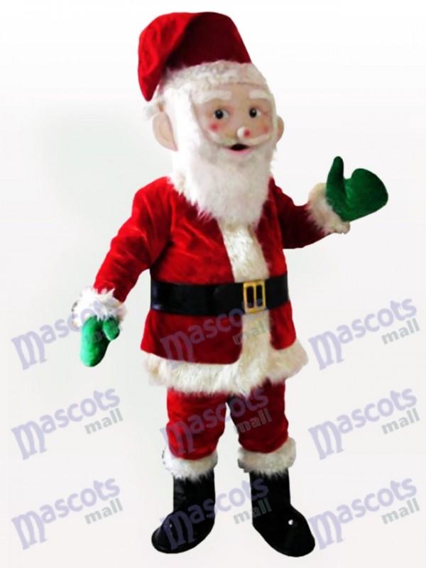 Christmas Xmas Santa Claus Adult Mascot Costume
